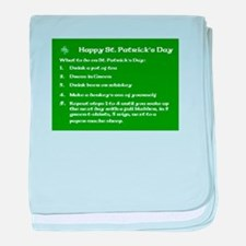 What to do on St. Patricks Day baby blanket
