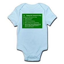 What to do on St. Patricks Day Infant Bodysuit