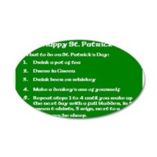 What to do on St. Patricks Day Wall Decal