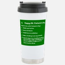 What to do on St. Patricks Day Travel Mug