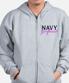 Navy Girlfriend Zip Hoodie