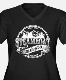 Steamboat Old Circle Women's Plus Size V-Neck Dark