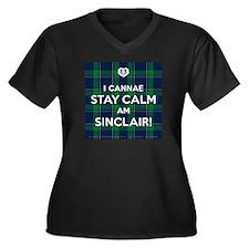 Sinclair Women's Plus Size V-Neck Dark T-Shirt