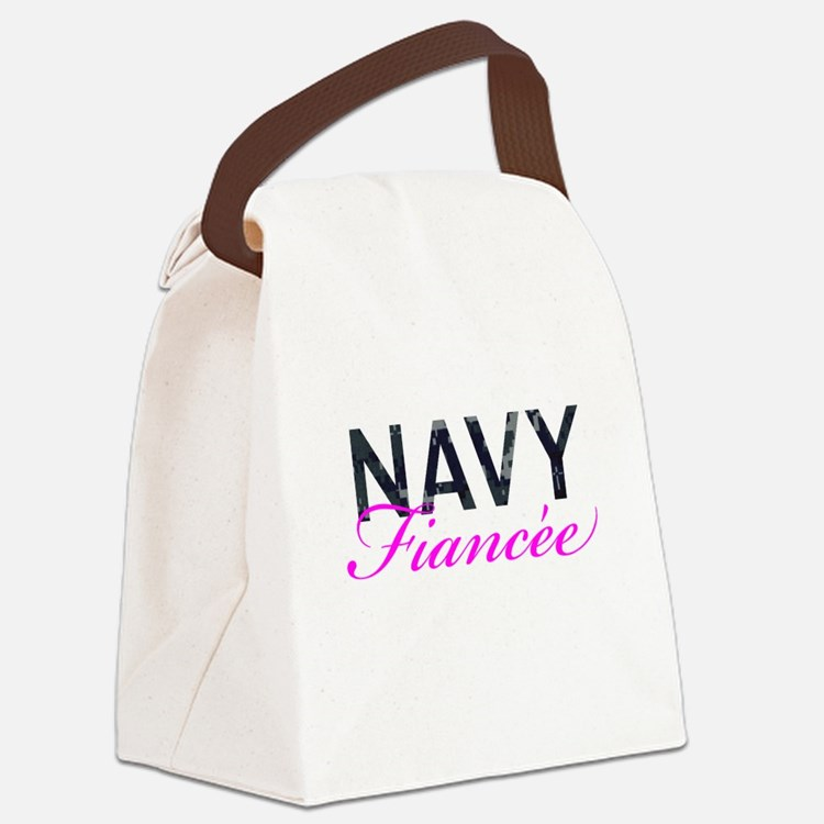 Navy Fiancee Canvas Lunch Bag