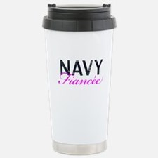 Navy Fiancee Stainless Steel Travel Mug