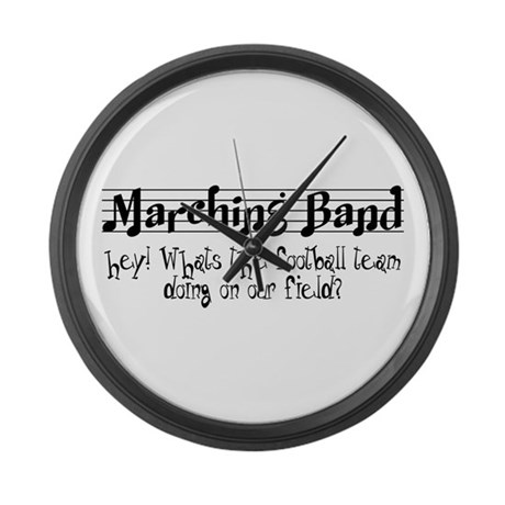 Marching Band Large Wall Clock
