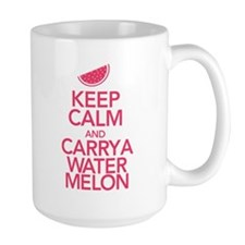 Keep Calm Carry a Watermelon Large Mug
