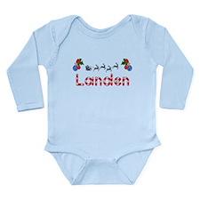 Landen, Christmas Long Sleeve Infant Bodysuit