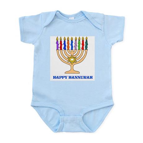 Hannukah Menorah Infant Bodysuit