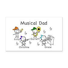 Musical Dad Rectangle Car Magnet