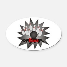 Personalized Bowling Oval Car Magnet