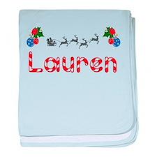 Lauren, Christmas baby blanket