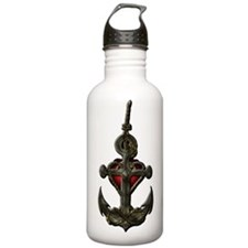 Red anchor Water Bottle