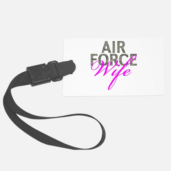 Air Force Wife Luggage Tag