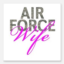 """Air Force Wife Square Car Magnet 3"""" x 3"""""""