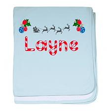 Layne, Christmas baby blanket