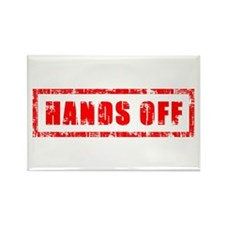 Hands Off Rectangle Magnet