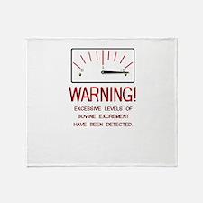 Bovine Excrement Detected Throw Blanket