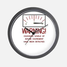 Bovine Excrement Detected Wall Clock