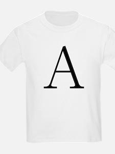 Greek Letter Alpha Kids T-Shirt