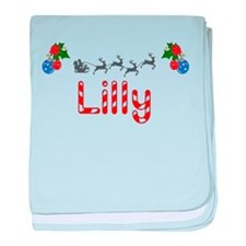 Lilly, Christmas baby blanket