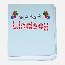 Lindsey, Christmas baby blanket