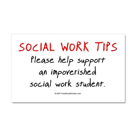 Social Work Tips-Students Car Magnet 20 x 12