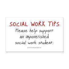 Social Work Tips-Students Rectangle Car Magnet