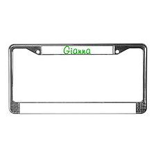 Gianna Glitter Gel License Plate Frame