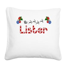 Lister, Christmas Square Canvas Pillow