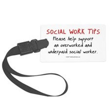 Social Work Tips Luggage Tag
