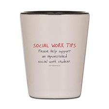 Social Work Tips-Students Shot Glass