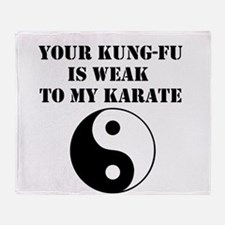 Kung-Fu Weak Throw Blanket