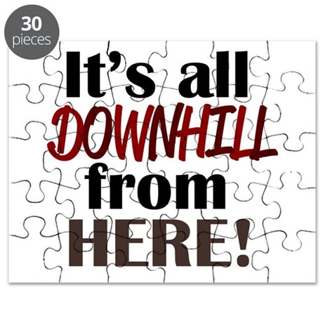 'Downhill From Here' Puzzle