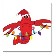 """Sandy Claws Square Car Magnet 3"""" x 3"""""""