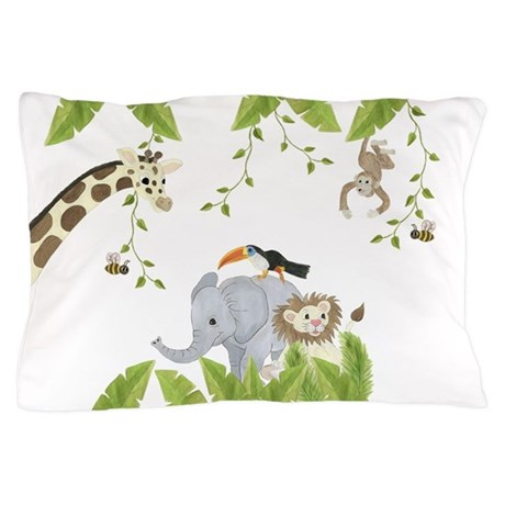 Jungle Animal Pillow : Jungle Animal Pillowcase Pillow Case by TotsOFun