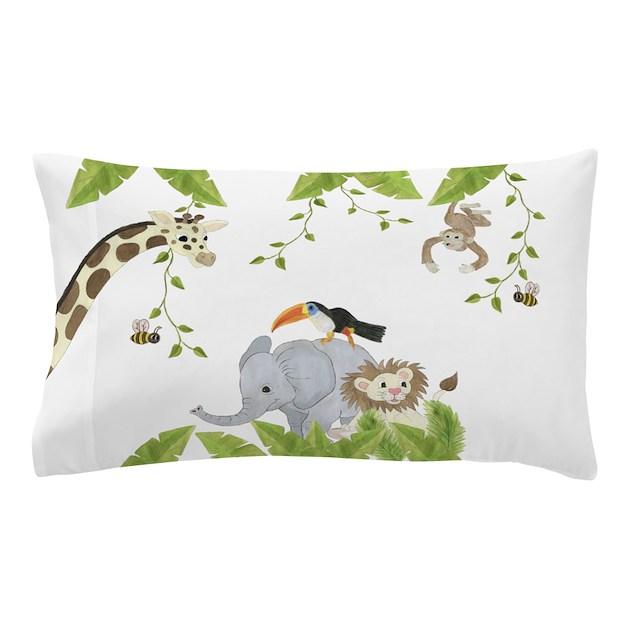 Jungle Animal Pillowcase Pillow Case by TotsOFun