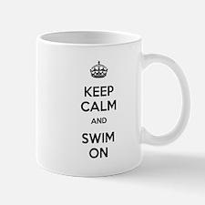 Keep Calm and Swim On Mug