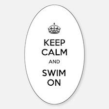 Keep Calm and Swim On Decal