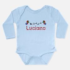 Luciano, Christmas Long Sleeve Infant Bodysuit