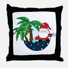 Christmas In Paradise Throw Pillow