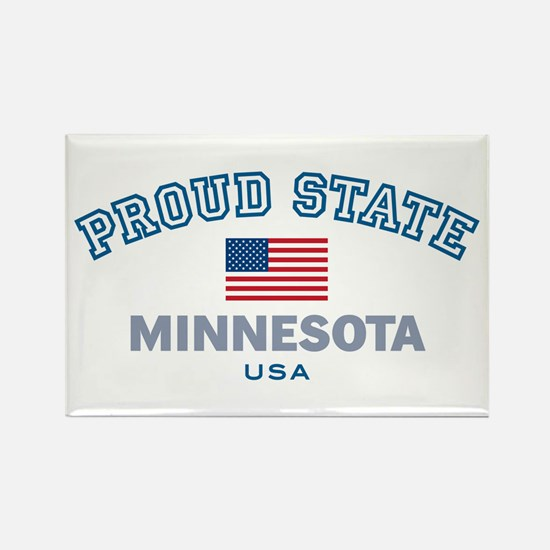 Minnesota-Proud State-Flag: Rectangle Magnet