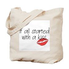 Started with a kiss... Tote Bag