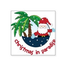 """Christmas In Paradise Square Sticker 3"""" x 3"""""""
