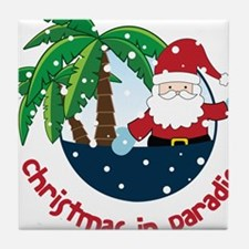 Christmas In Paradise Tile Coaster