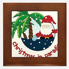 Christmas In Paradise Framed Tile