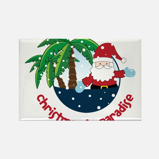 Christmas In Paradise Rectangle Magnet