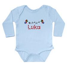 Luka, Christmas Long Sleeve Infant Bodysuit