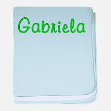 Gabriela Glitter Gel baby blanket