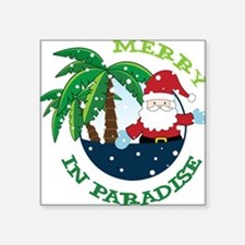 """Merry In Paradise Square Sticker 3"""" x 3"""""""
